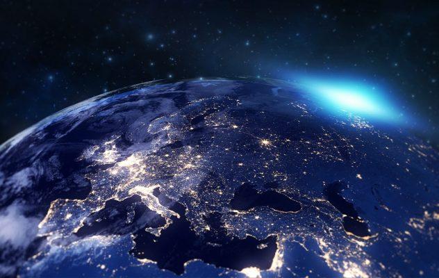 The Earth showing Dubai area