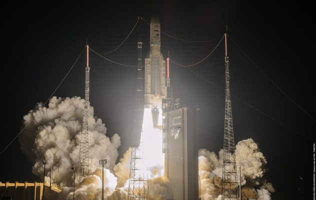 Arianespace's fifth mission of 2020 used an Ariane 5 with increased payload capacity, resulting from the integration of a new vehicle equipment bay. Flight VA253. Galaxy 30, MEV-2 and BSAT-4b.