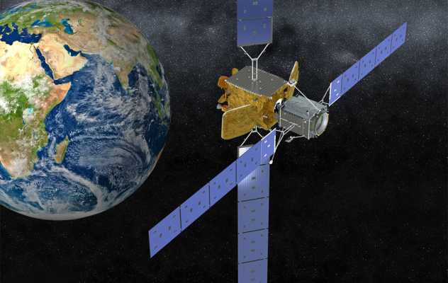 Commercial Satellite Servicing. Image is courtesy of Northrop Grumman.