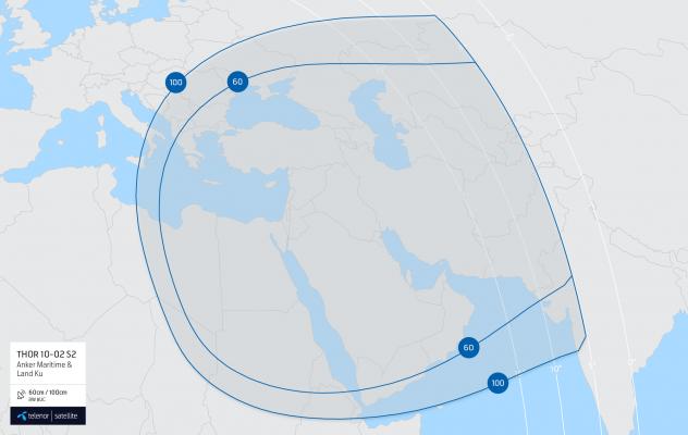 Coverage map: THOR 10-02 S2 Anker Maritime & Land Ku
